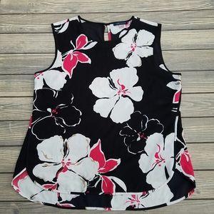Tommy Hilfiger Black Red Floral Blouse